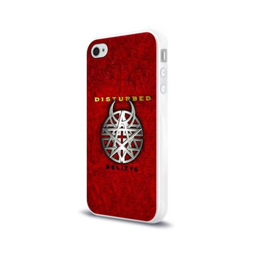 Чехол для Apple iPhone 4/4S силиконовый глянцевый  Фото 03, Disturbed believe