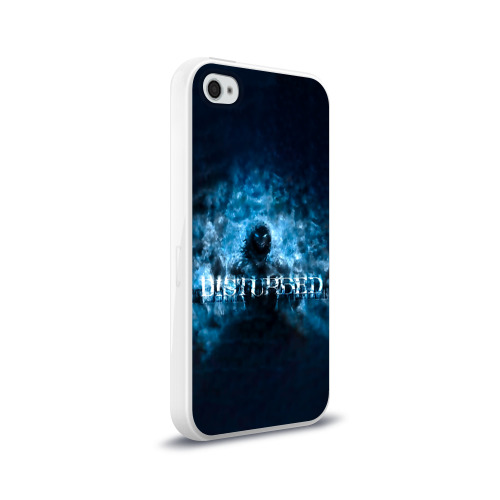 Чехол для Apple iPhone 4/4S силиконовый глянцевый  Фото 02, Демон Disturbed