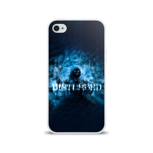 Чехол для Apple iPhone 4/4S силиконовый глянцевый  Фото 01, Демон Disturbed