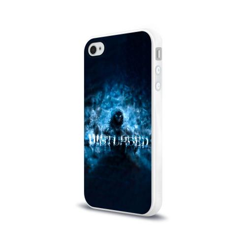 Чехол для Apple iPhone 4/4S силиконовый глянцевый  Фото 03, Демон Disturbed