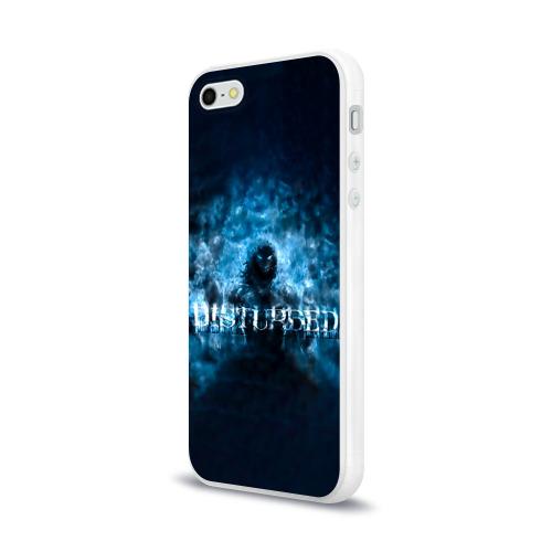 Чехол для Apple iPhone 5/5S силиконовый глянцевый  Фото 03, Демон Disturbed