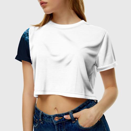 Женская футболка 3D укороченная  Фото 01, Демон Disturbed