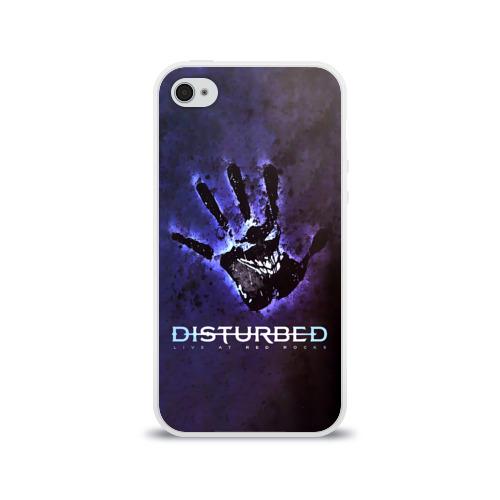 Чехол для Apple iPhone 4/4S силиконовый глянцевый  Фото 01, Рука Disturbed