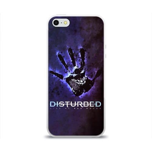 Чехол для Apple iPhone 5/5S силиконовый глянцевый  Фото 01, Рука Disturbed