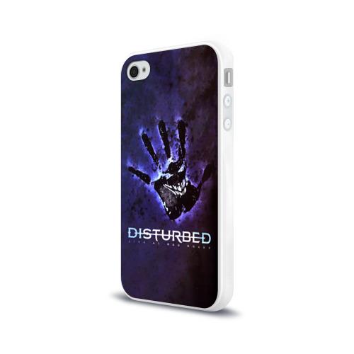 Чехол для Apple iPhone 4/4S силиконовый глянцевый  Фото 03, Рука Disturbed