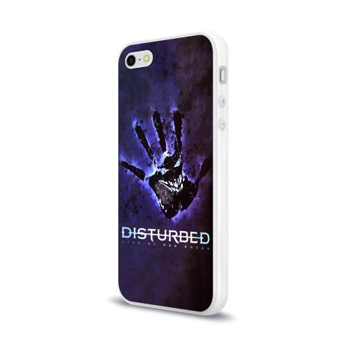 Чехол для Apple iPhone 5/5S силиконовый глянцевый  Фото 03, Рука Disturbed