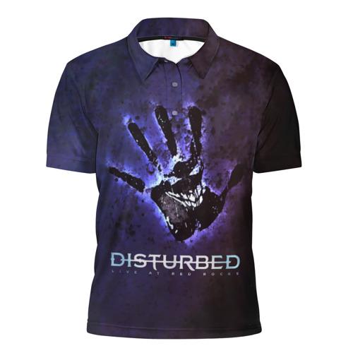 Мужская рубашка поло 3D  Фото 01, Рука Disturbed