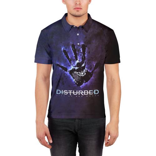 Мужская рубашка поло 3D  Фото 03, Рука Disturbed