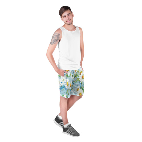 Мужские шорты 3D  Фото 03, Ромашки
