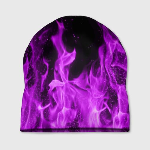 Шапка 3D  Фото 01, Фиолетовый огонь
