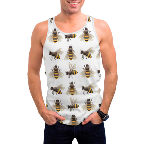 Мужская майка 3D  Фото 03, Пчелы