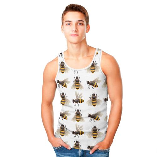 Мужская майка 3D  Фото 05, Пчелы