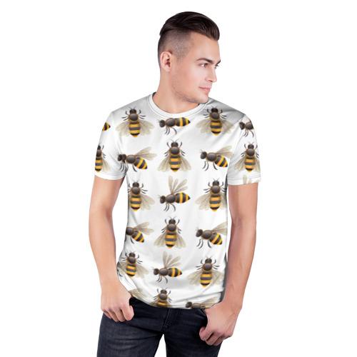 Мужская футболка 3D спортивная  Фото 03, Пчелы