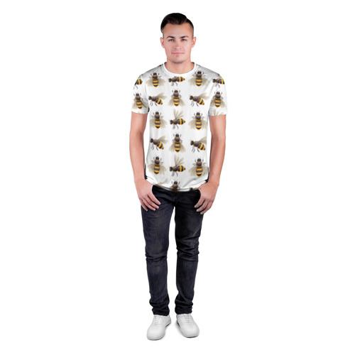 Мужская футболка 3D спортивная  Фото 04, Пчелы