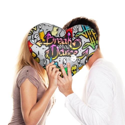 Подушка 3D сердце  Фото 03, Graffiti