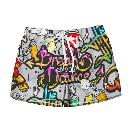 Женские шорты 3D Graffiti