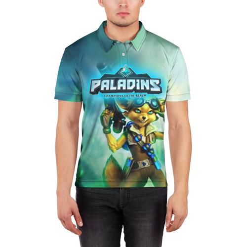 Мужская рубашка поло 3D  Фото 03, Paladins