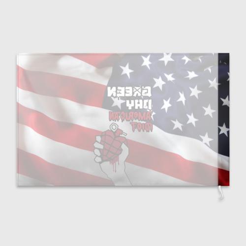 Флаг 3D Green Day American Idiot Фото 01