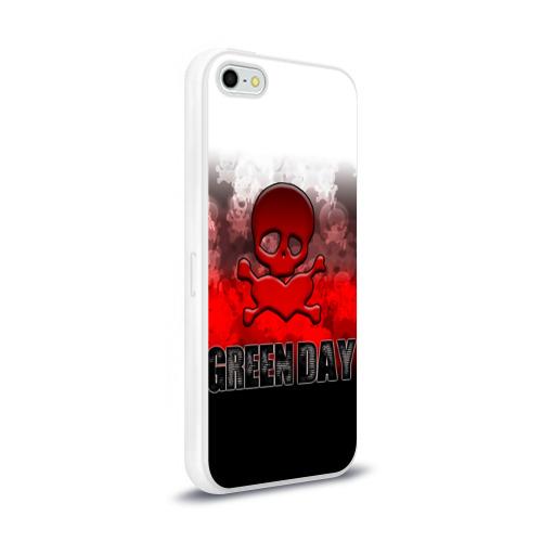 Чехол для Apple iPhone 5/5S силиконовый глянцевый Череп и сердце Green Day Фото 01
