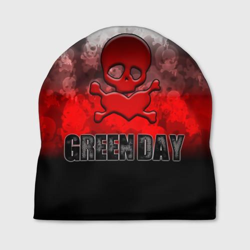 Шапка 3D  Фото 01, Череп и сердце Green Day
