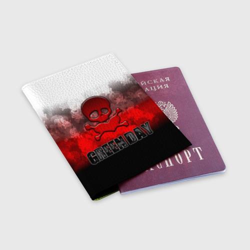 Обложка для паспорта матовая кожа Череп и сердце Green Day Фото 01