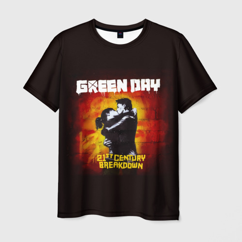 Мужская футболка 3D Поцелуй Green Day Фото 01