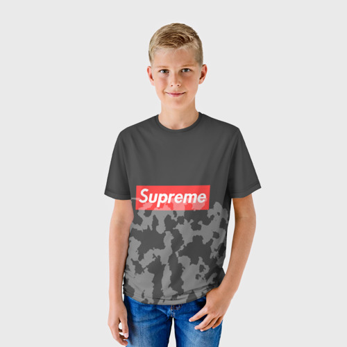 Детская футболка 3D Supreme Милитари #2