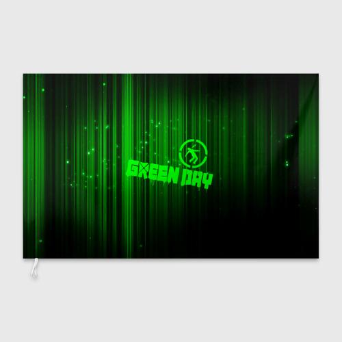 Флаг 3D Green Day лучи Фото 01