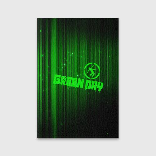 Обложка для паспорта матовая кожа Green Day лучи Фото 01