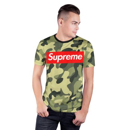 Мужская футболка 3D спортивная  Фото 03, Supreme military II