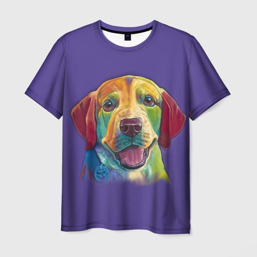 Мужская футболка 3D  Фото 03, Лабрадор