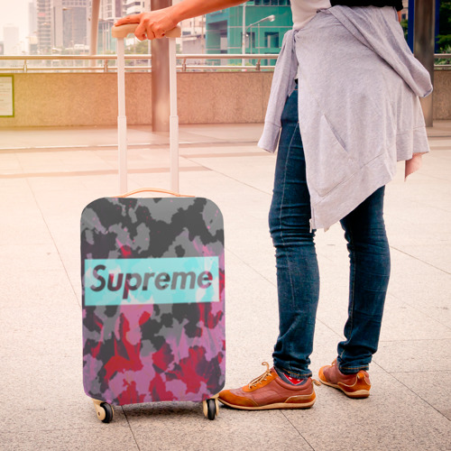 Чехол для чемодана 3D  Фото 04, Supreme Fire Милитари
