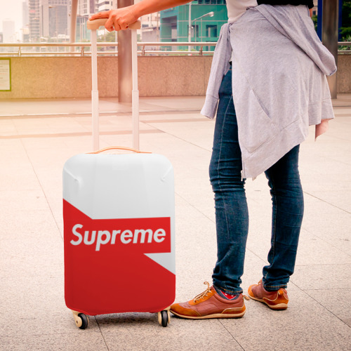 Чехол для чемодана 3D  Фото 04, Supreme Red and White