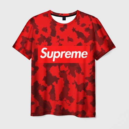 Мужская футболка 3D Supreme Red military