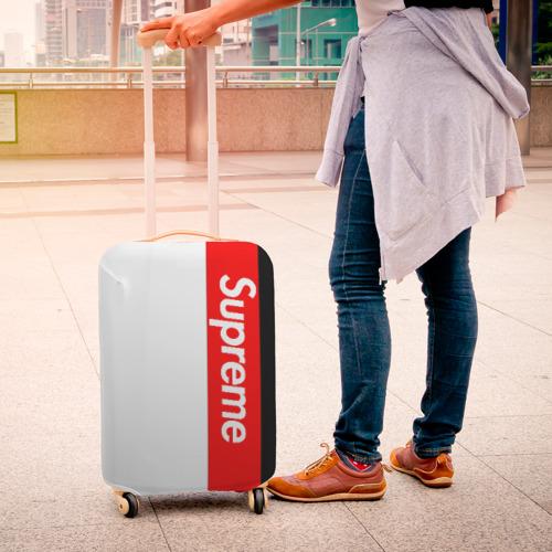 Чехол для чемодана 3D  Фото 04, Supreme Red Black White