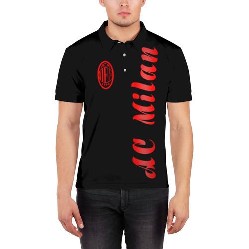Мужская рубашка поло 3D  Фото 03, AC Milan - Milan 2018