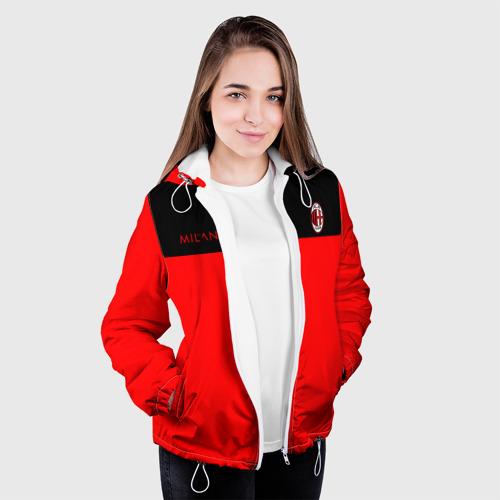 Женская куртка 3D  Фото 04, AC Milan - Red & Black