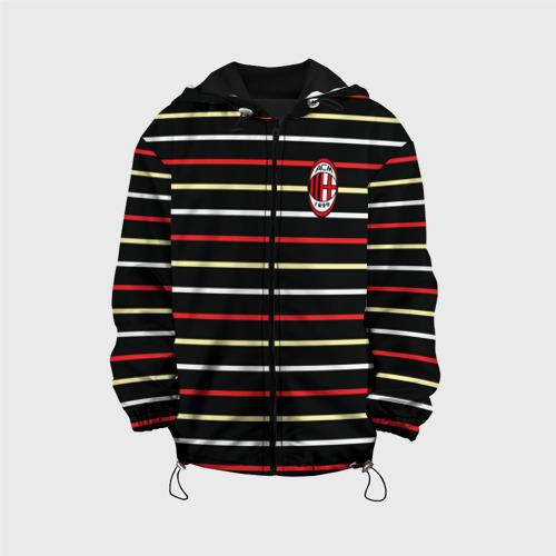 Детская куртка 3D  Фото 01, AC Milan - Stripe black