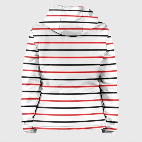 Женская куртка 3D  Фото 02, AC Milan - Stripe white