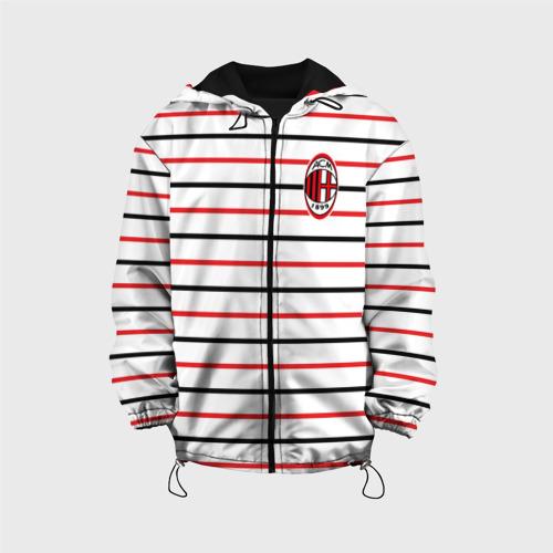 Детская куртка 3D  Фото 01, AC Milan - Stripe white