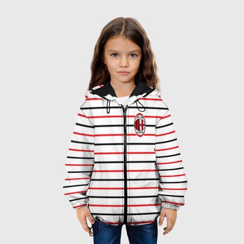 Детская куртка 3D  Фото 04, AC Milan - Stripe white