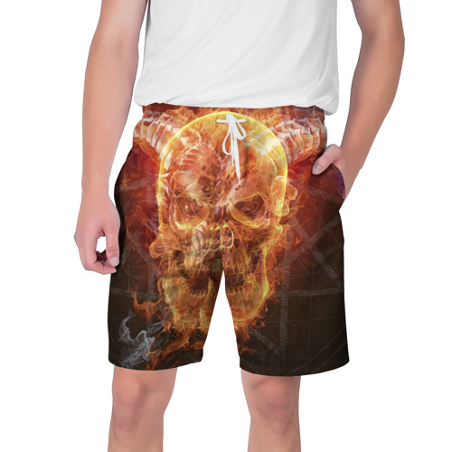 Мужские шорты 3D  Фото 01, Дьявол