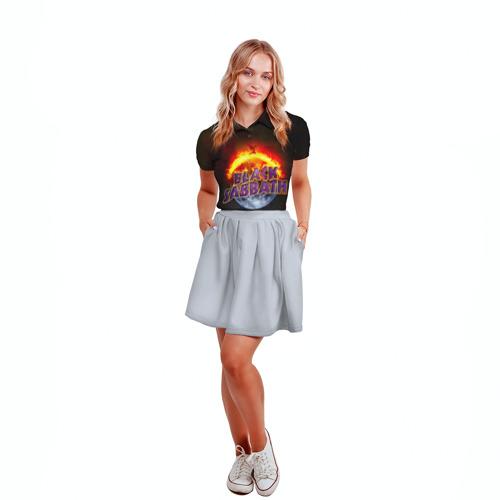 Женская рубашка поло 3D  Фото 04, Black Sabbath земля в огне