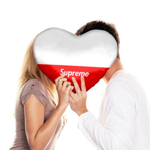 Подушка 3D сердце  Фото 03, Supreme Red and White One