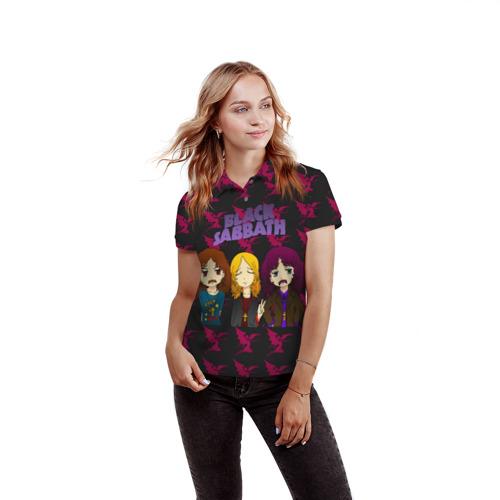 Женская рубашка поло 3D  Фото 03, Группа Black Sabbath