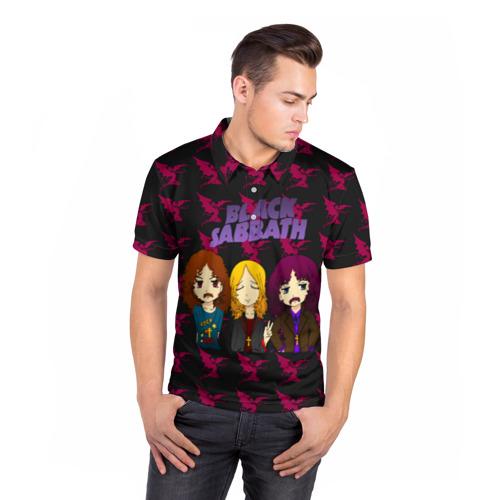 Мужская рубашка поло 3D  Фото 05, Группа Black Sabbath