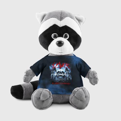 Енотик в футболке 3D Череп Slayer Фото 01