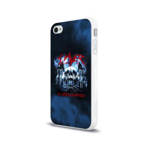Чехол для Apple iPhone 4/4S силиконовый глянцевый Череп Slayer Фото 01