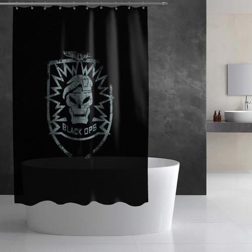 Штора 3D для ванной  Фото 03, Black Ops