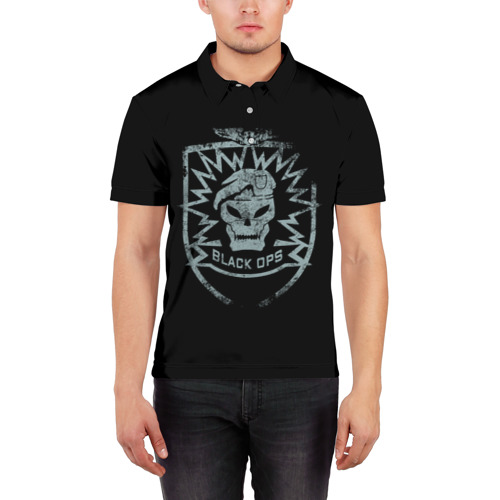 Мужская рубашка поло 3D  Фото 03, Black Ops